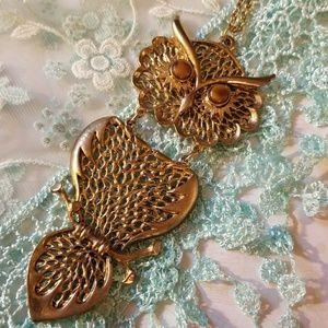 Amazing VTG Owl Necklace